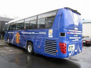 バスをレンタルしてラッピングバスでVIPを送迎