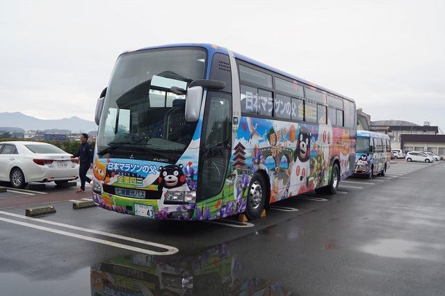 大河ドラマ放送のタイミングで地元をアピールするラッピングバス