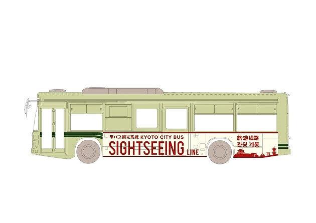 混雑緩和対策の一環にラッピングバスを活用